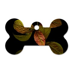 Autumn Leaves Foliage Dog Tag Bone (one Side) by Celenk