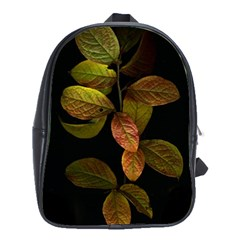 Autumn Leaves Foliage School Bag (large) by Celenk