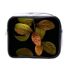 Autumn Leaves Foliage Mini Toiletries Bags by Celenk