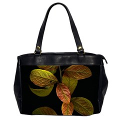 Autumn Leaves Foliage Office Handbags (2 Sides)  by Celenk