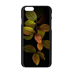 Autumn Leaves Foliage Apple Iphone 6/6s Black Enamel Case by Celenk