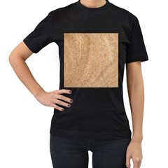 Rock Tile Marble Structure Women s T Shirt (black) by Celenk