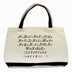 Font Lettering Alphabet Writing Basic Tote Bag by Celenk