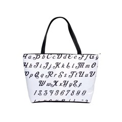 Font Lettering Alphabet Writing Shoulder Handbags by Celenk