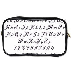 Font Lettering Alphabet Writing Toiletries Bags 2 Side by Celenk