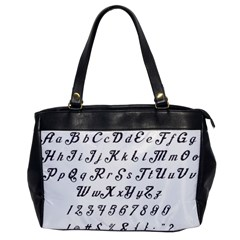 Font Lettering Alphabet Writing Office Handbags by Celenk