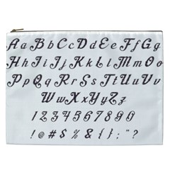 Font Lettering Alphabet Writing Cosmetic Bag (xxl)  by Celenk