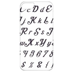Font Lettering Alphabet Writing Apple Iphone 5 Classic Hardshell Case by Celenk