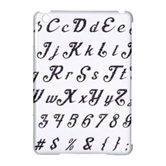 Font Lettering Alphabet Writing Apple Ipad Mini Hardshell Case (compatible With Smart Cover) by Celenk