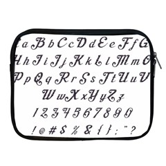 Font Lettering Alphabet Writing Apple Ipad 2/3/4 Zipper Cases by Celenk