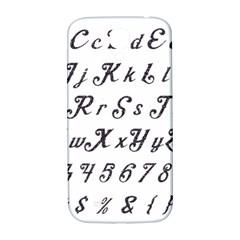 Font Lettering Alphabet Writing Samsung Galaxy S4 I9500/i9505  Hardshell Back Case by Celenk