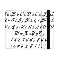 Font Lettering Alphabet Writing Samsung Galaxy Tab Pro 8 4  Flip Case by Celenk