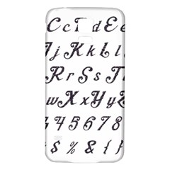 Font Lettering Alphabet Writing Samsung Galaxy S5 Back Case (white)