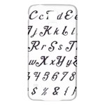 Font Lettering Alphabet Writing Samsung Galaxy S5 Back Case (White) Front