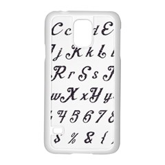 Font Lettering Alphabet Writing Samsung Galaxy S5 Case (white) by Celenk