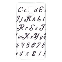 Font Lettering Alphabet Writing Galaxy Note 4 Back Case by Celenk