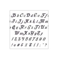 Font Lettering Alphabet Writing Satin Bandana Scarf by Celenk