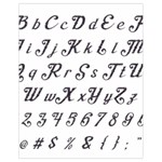 Font Lettering Alphabet Writing Drawstring Bag (Small) Front