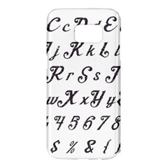 Font Lettering Alphabet Writing Samsung Galaxy S7 Edge Hardshell Case by Celenk