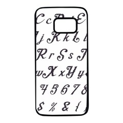 Font Lettering Alphabet Writing Samsung Galaxy S7 Black Seamless Case by Celenk