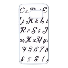Font Lettering Alphabet Writing Samsung Galaxy S7 White Seamless Case by Celenk