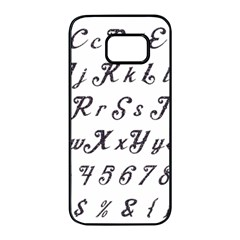 Font Lettering Alphabet Writing Samsung Galaxy S7 Edge Black Seamless Case by Celenk