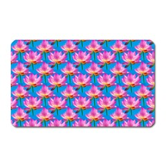 Seamless Flower Pattern Colorful Magnet (rectangular) by Celenk