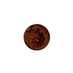 Copper Caramel Swirls Abstract Art 1  Mini Buttons by Celenk