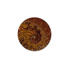 Copper Caramel Swirls Abstract Art Golf Ball Marker (4 Pack) by Celenk