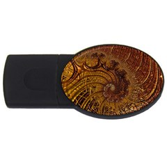 Copper Caramel Swirls Abstract Art Usb Flash Drive Oval (4 Gb) by Celenk