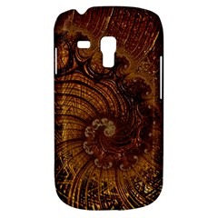 Copper Caramel Swirls Abstract Art Galaxy S3 Mini by Celenk