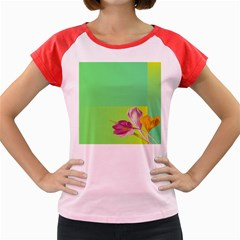 Background Homepage Blossom Bloom Women s Cap Sleeve T Shirt by Celenk