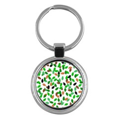 Leaves True Leaves Autumn Green Key Chains (round)  by Celenk