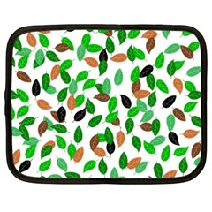 Leaves True Leaves Autumn Green Netbook Case (xxl)  by Celenk