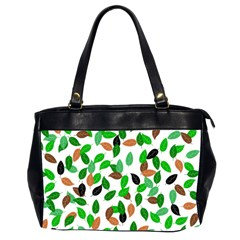 Leaves True Leaves Autumn Green Office Handbags (2 Sides)  by Celenk