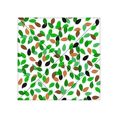 Leaves True Leaves Autumn Green Acrylic Tangram Puzzle (4  X 4 ) by Celenk