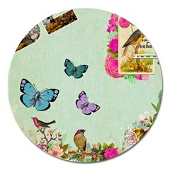 Collage Magnet 5  (round) by 8fugoso