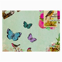 Collage Large Glasses Cloth (2 Side) by 8fugoso
