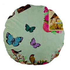 Collage Large 18  Premium Round Cushions by 8fugoso