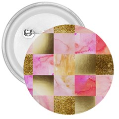 Collage Gold And Pink 3  Buttons by 8fugoso