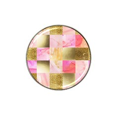 Collage Gold And Pink Hat Clip Ball Marker (4 Pack) by 8fugoso