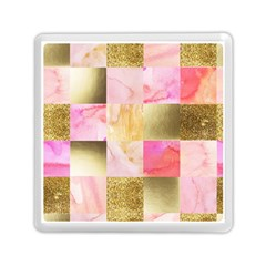Collage Gold And Pink Memory Card Reader (square)  by 8fugoso