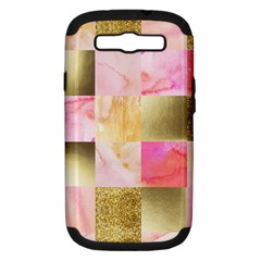 Collage Gold And Pink Samsung Galaxy S Iii Hardshell Case (pc+silicone) by 8fugoso