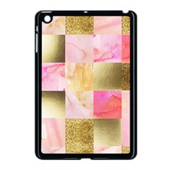 Collage Gold And Pink Apple Ipad Mini Case (black) by 8fugoso