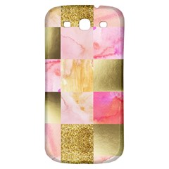 Collage Gold And Pink Samsung Galaxy S3 S Iii Classic Hardshell Back Case by 8fugoso