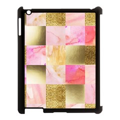 Collage Gold And Pink Apple Ipad 3/4 Case (black) by 8fugoso
