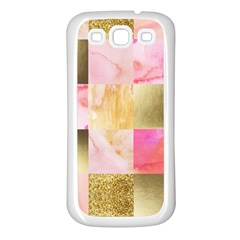Collage Gold And Pink Samsung Galaxy S3 Back Case (white) by 8fugoso