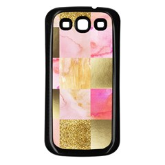 Collage Gold And Pink Samsung Galaxy S3 Back Case (black) by 8fugoso