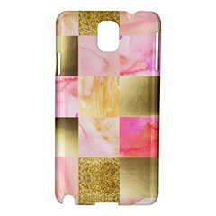 Collage Gold And Pink Samsung Galaxy Note 3 N9005 Hardshell Case by 8fugoso