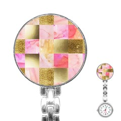 Collage Gold And Pink Stainless Steel Nurses Watch by 8fugoso